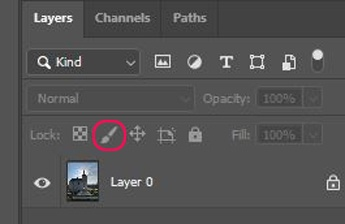 Lock Pixels Layer