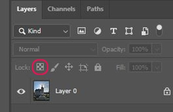 Photoshop Transparency Lock