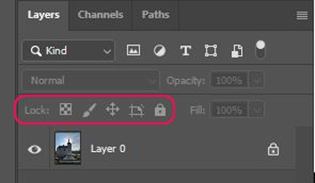 How to lock a layer 1