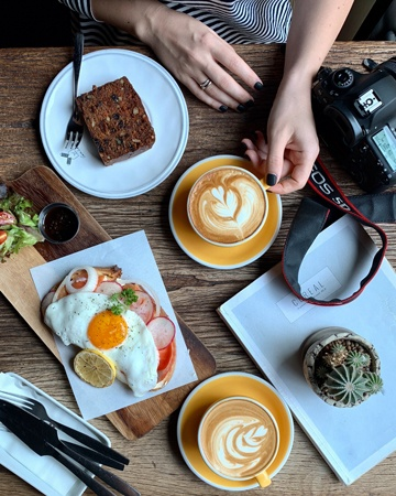 Camera for food photography