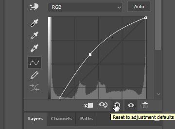 Photoshop Curves Reset