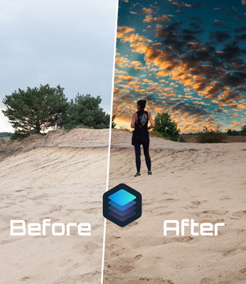 How to Replace a Sky in Luminar 4 and create Sunrays
