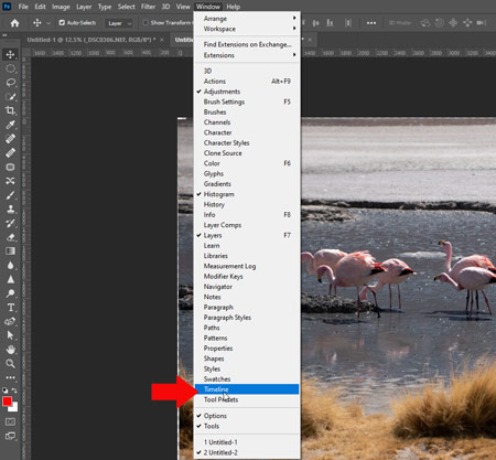 How to make a GIF in Photoshop - Timeline