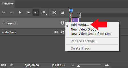 Timeline - video editing