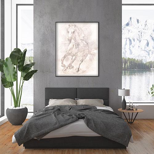 Digital Drawing - Horse bedroom
