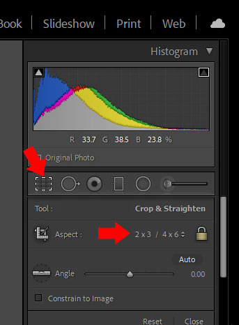 How to crop a picture - Aspect ratio in Lightroom