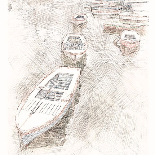 Digital Drawing – Port of Naples sketch art