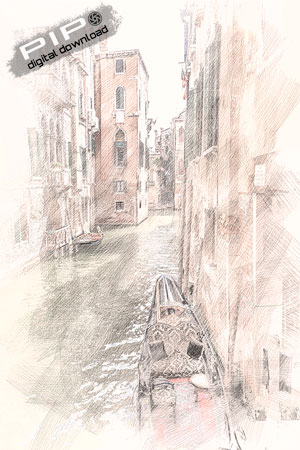Printable Art - Venice Sketch