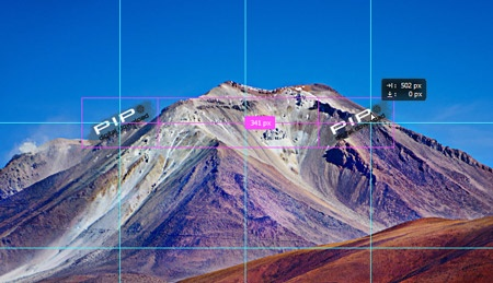 Watermark - grid positioning guides
