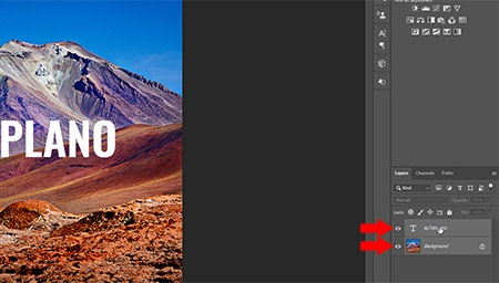 How to add a watermark - select both layers