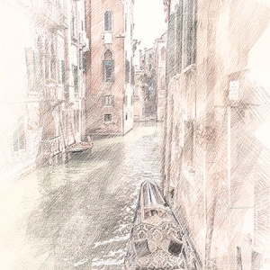 Printable Art – Venice sketch art