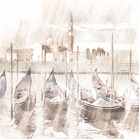 Printable Art – Gondola sketch art