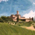 Digital painting Siena